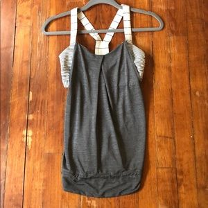 Lululemon Tank with Built-In Bra and Drawstring